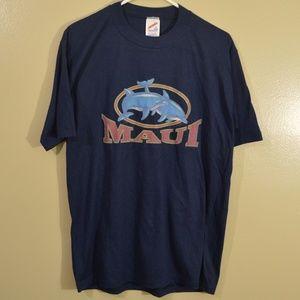 Vintage Maui Tourist Shirt Jerzees MiUSA Retro 90s